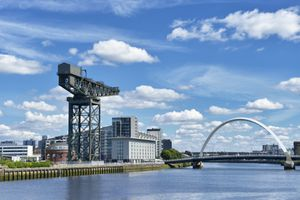 The Finnieston Crane, Clyde Arc and the River Clyde, Glasgow