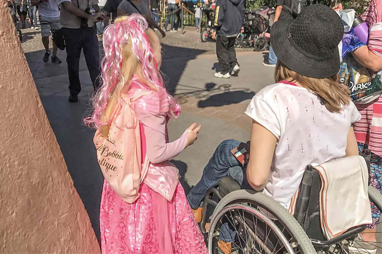 Woman Using a Wheelchair at Disneyland
