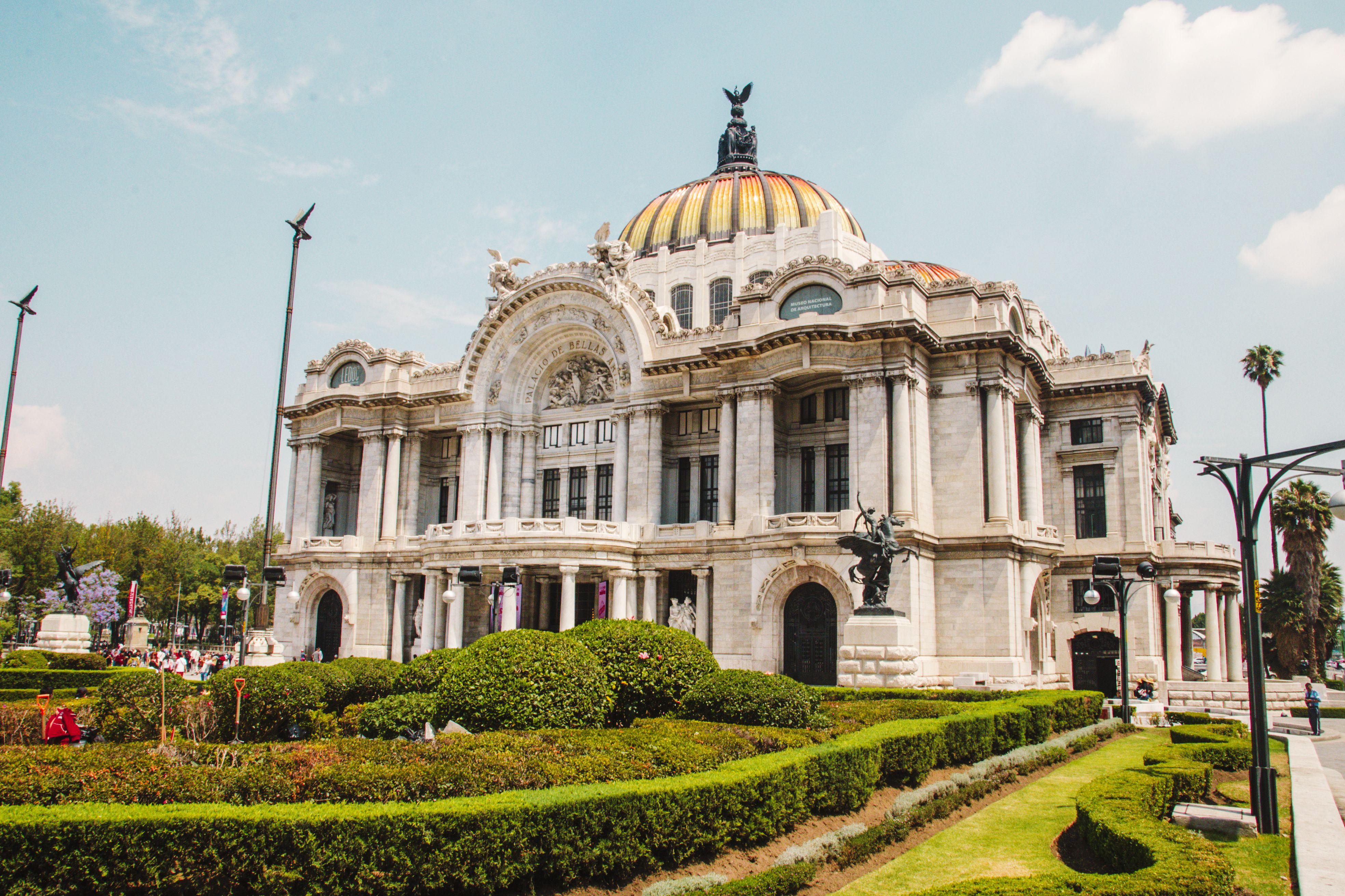 Exterior of the Palacio de Bellas Artes