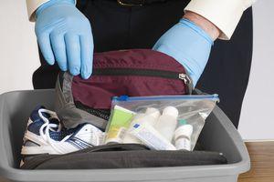 TSA looking through items