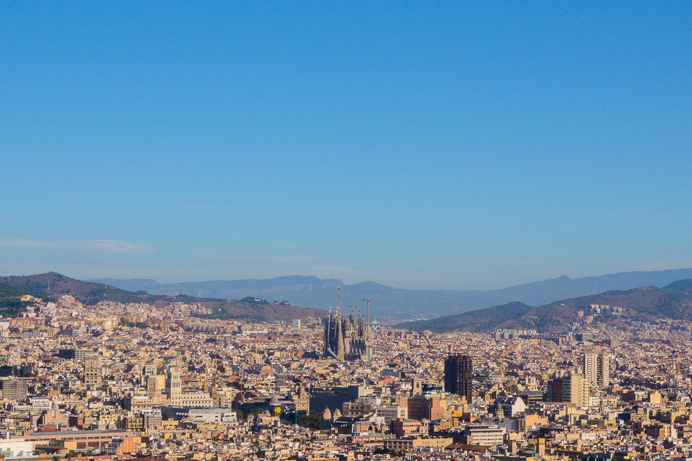Sagrada Familia standing tall above the rest of Barcelona's cityscape