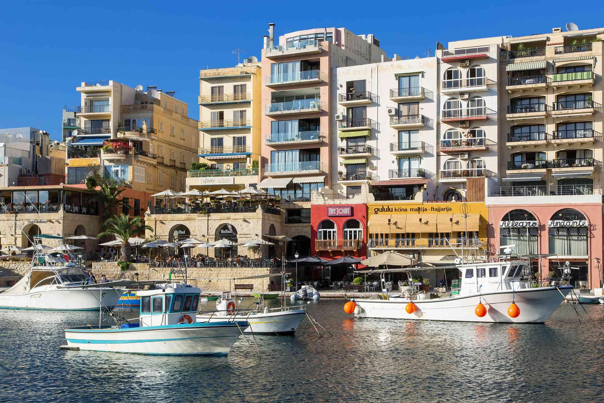 Spinola Bay in St. Julian, Malta