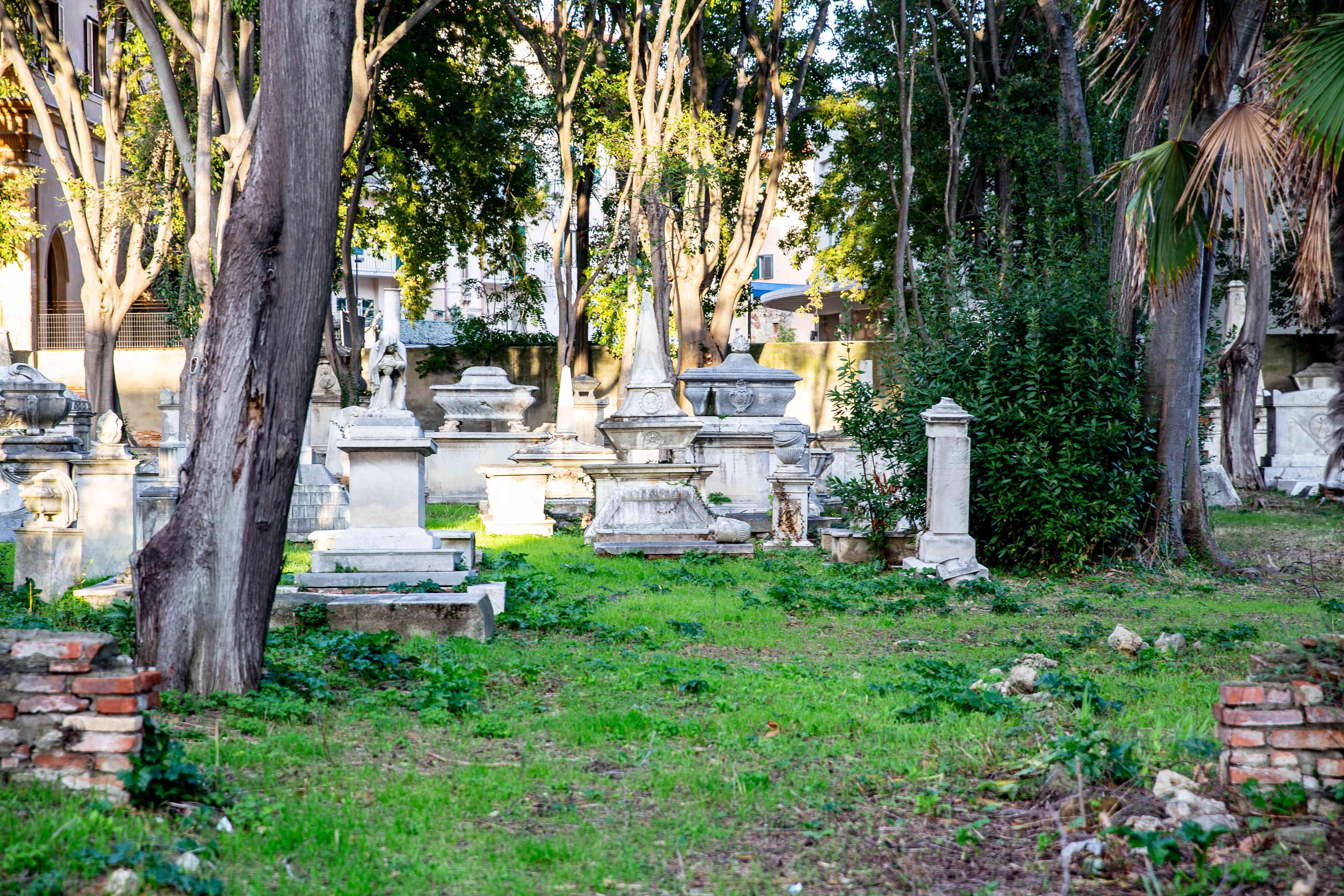 Old English Cemetery in Livorno