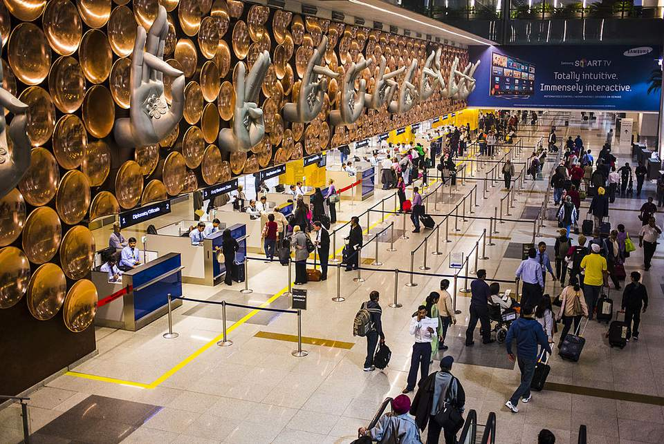 Delhi airport's immigration line