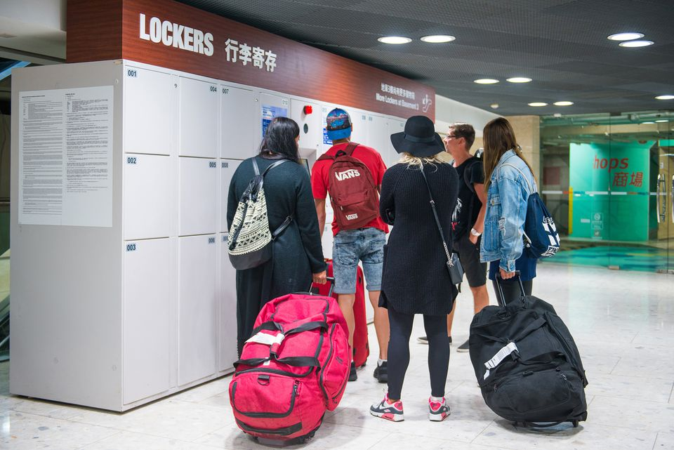 Luggage lockers in Hong Kong