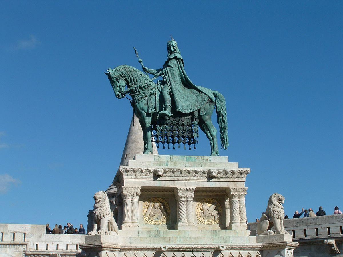 St. Stephen Statue at Fishermen's Bastion in Budapest