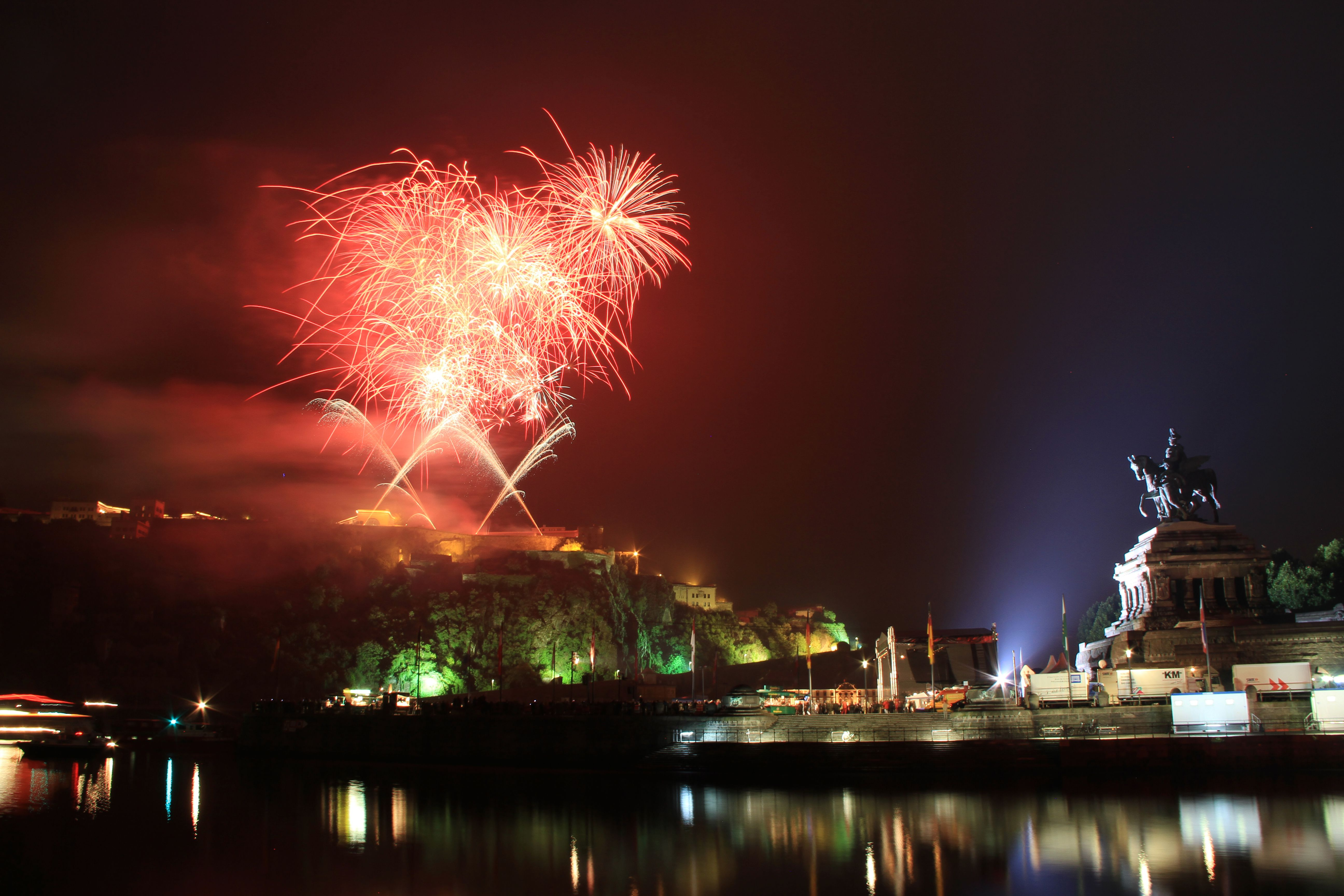 Rhein in Flames in Koblenz