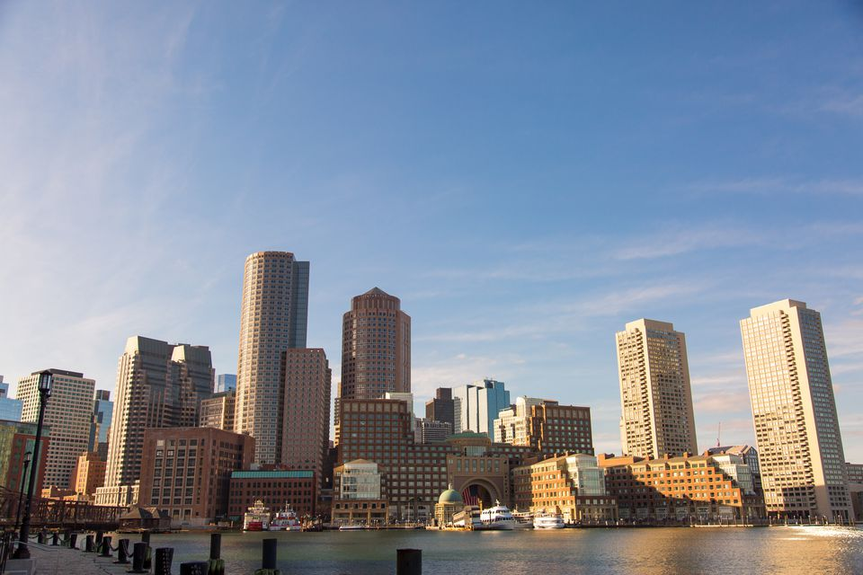 Skyline view at Boston Harbor