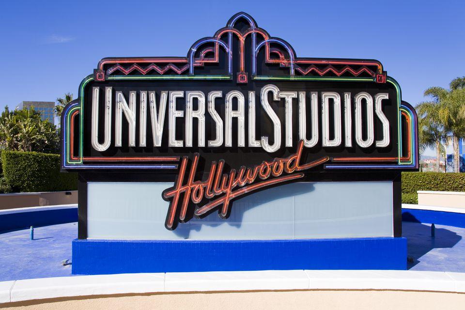 Universal Studios sign at Universal Studios Hollywood.