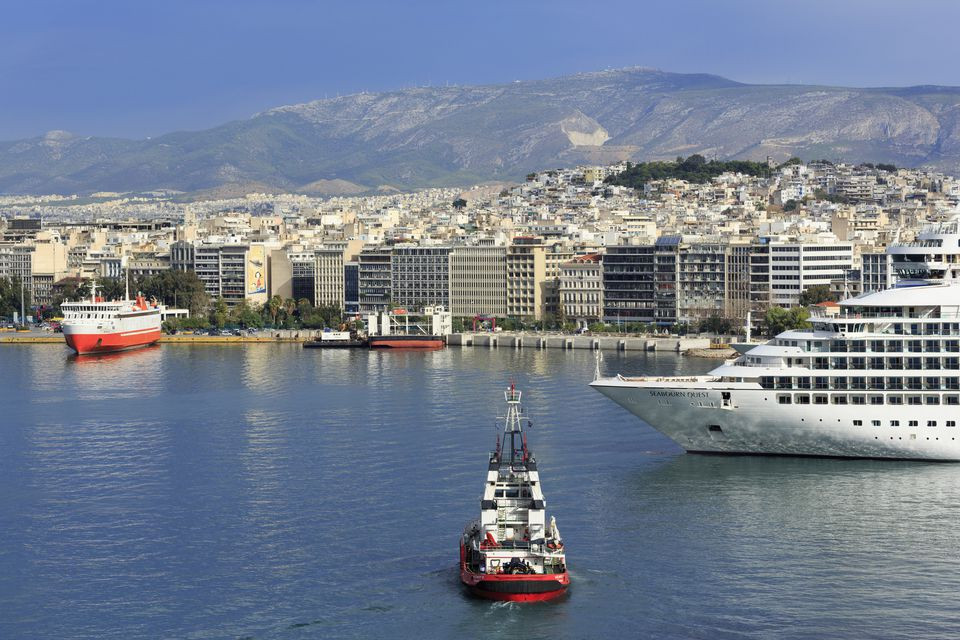 Ferries at port in Athens