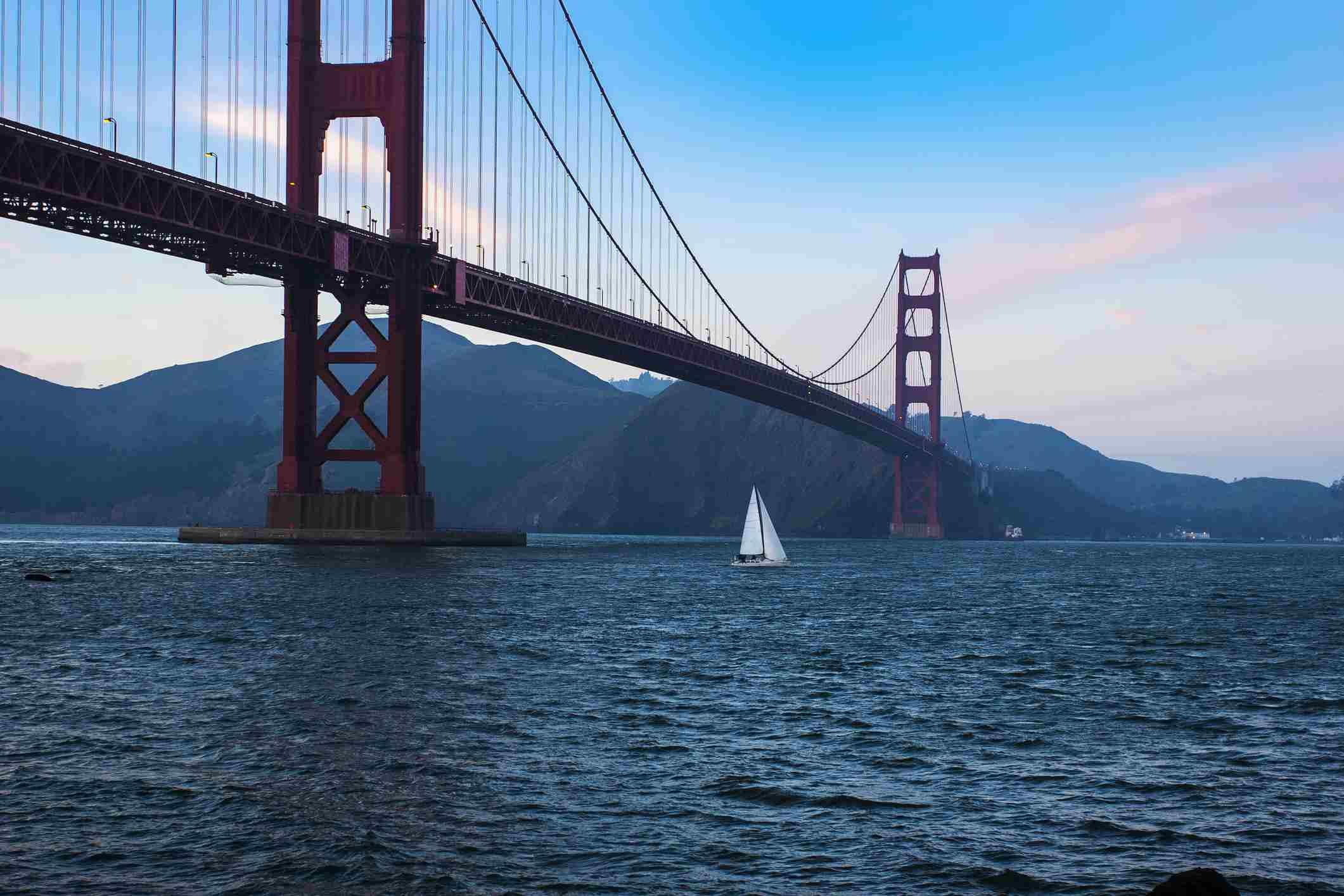 Sail boat in SF Bay