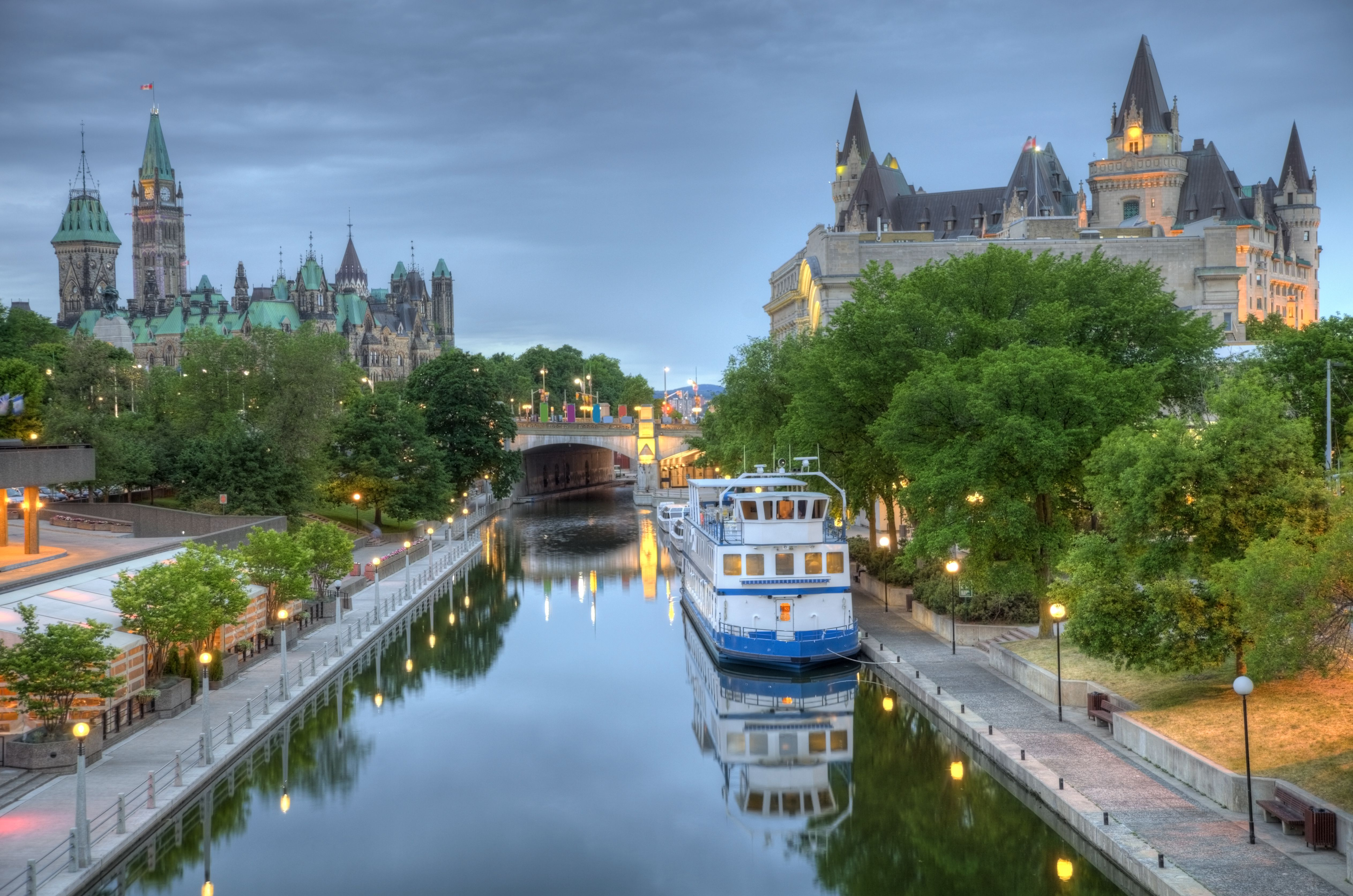 Parliament Hill on the Rideau Canal