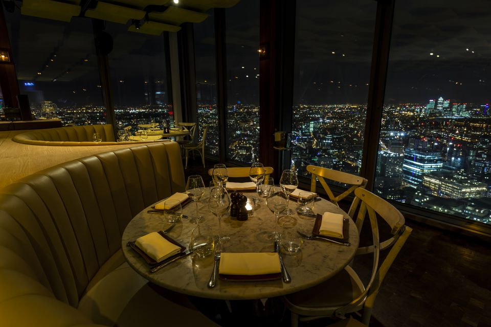 Skyline views from Duck & Waffle