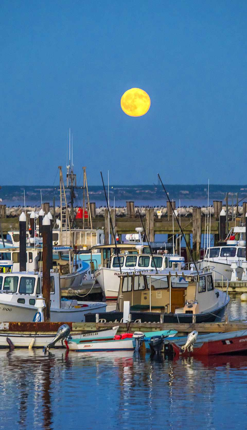 July in New England - Full Moon Over Provincetown