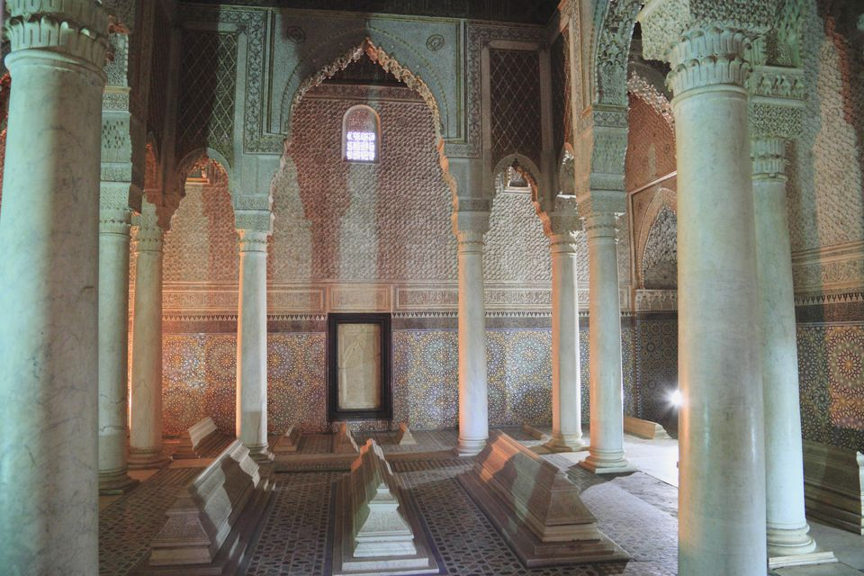Inside the Saadian Tombs, Marrakesh