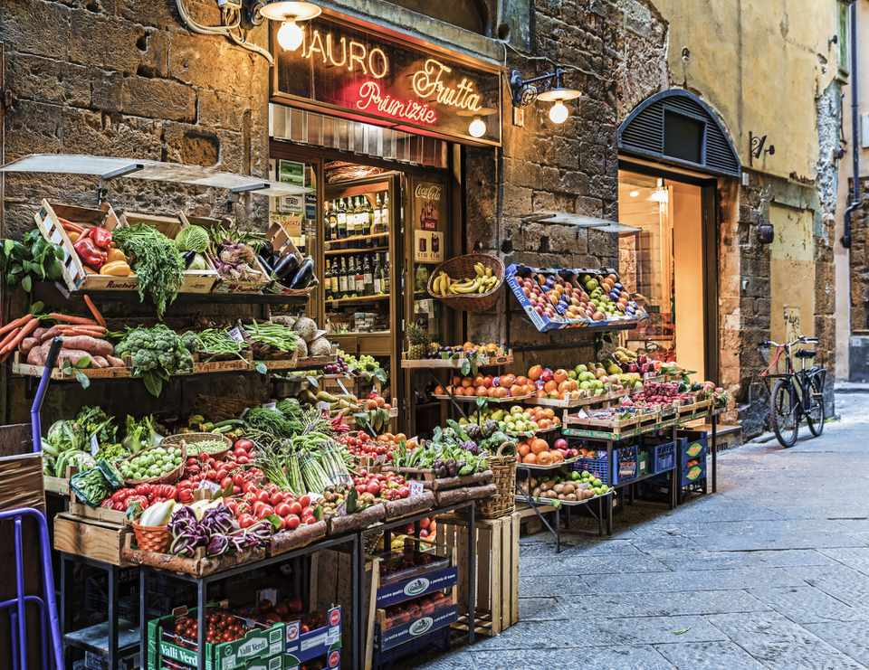 Fresh Market in Florence Italy
