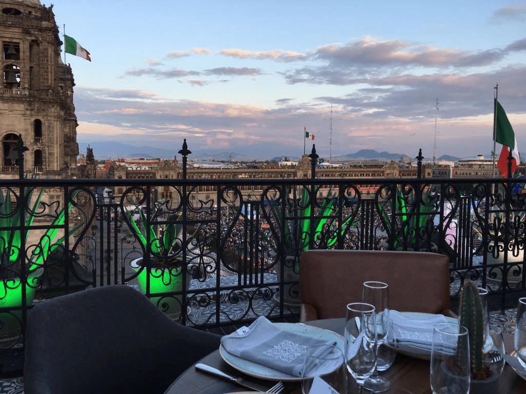 View from El Balcon del Zocalo restaurant