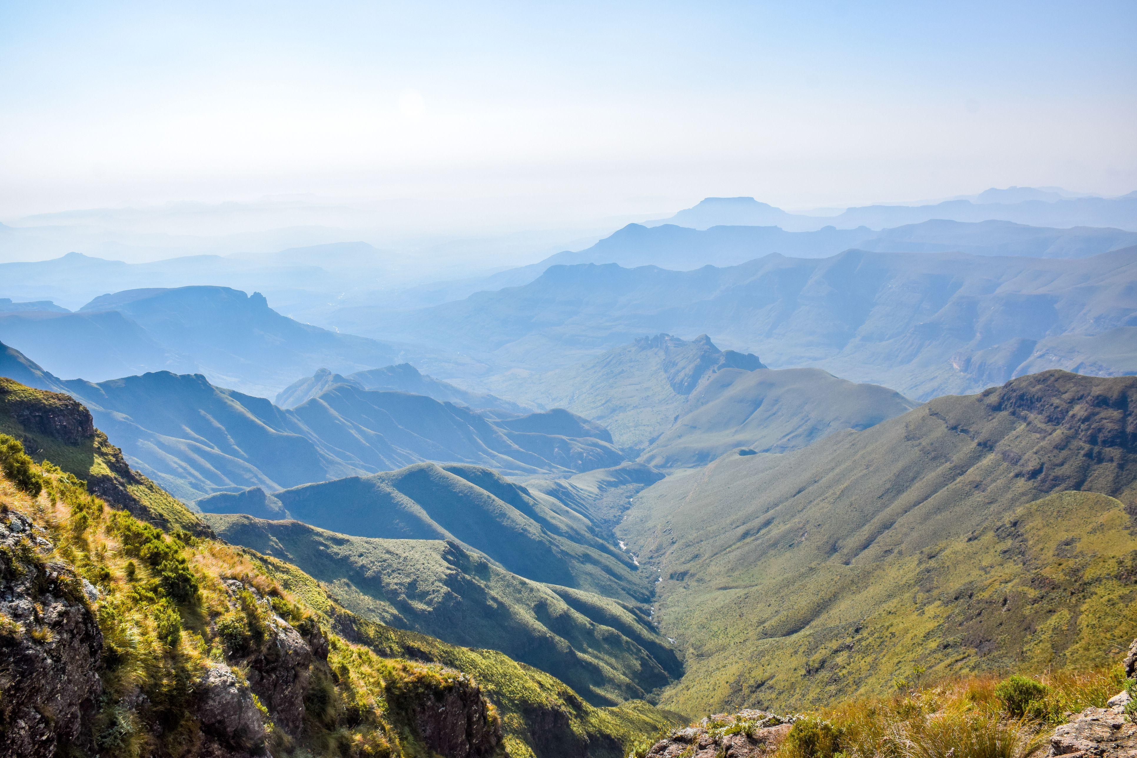 View of the Drakensberg Mountains