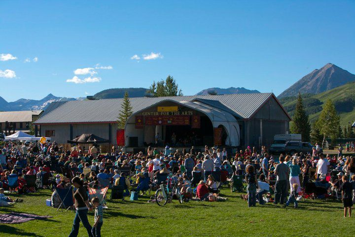 Alpenglow at the Crested Butte Center for the Arts