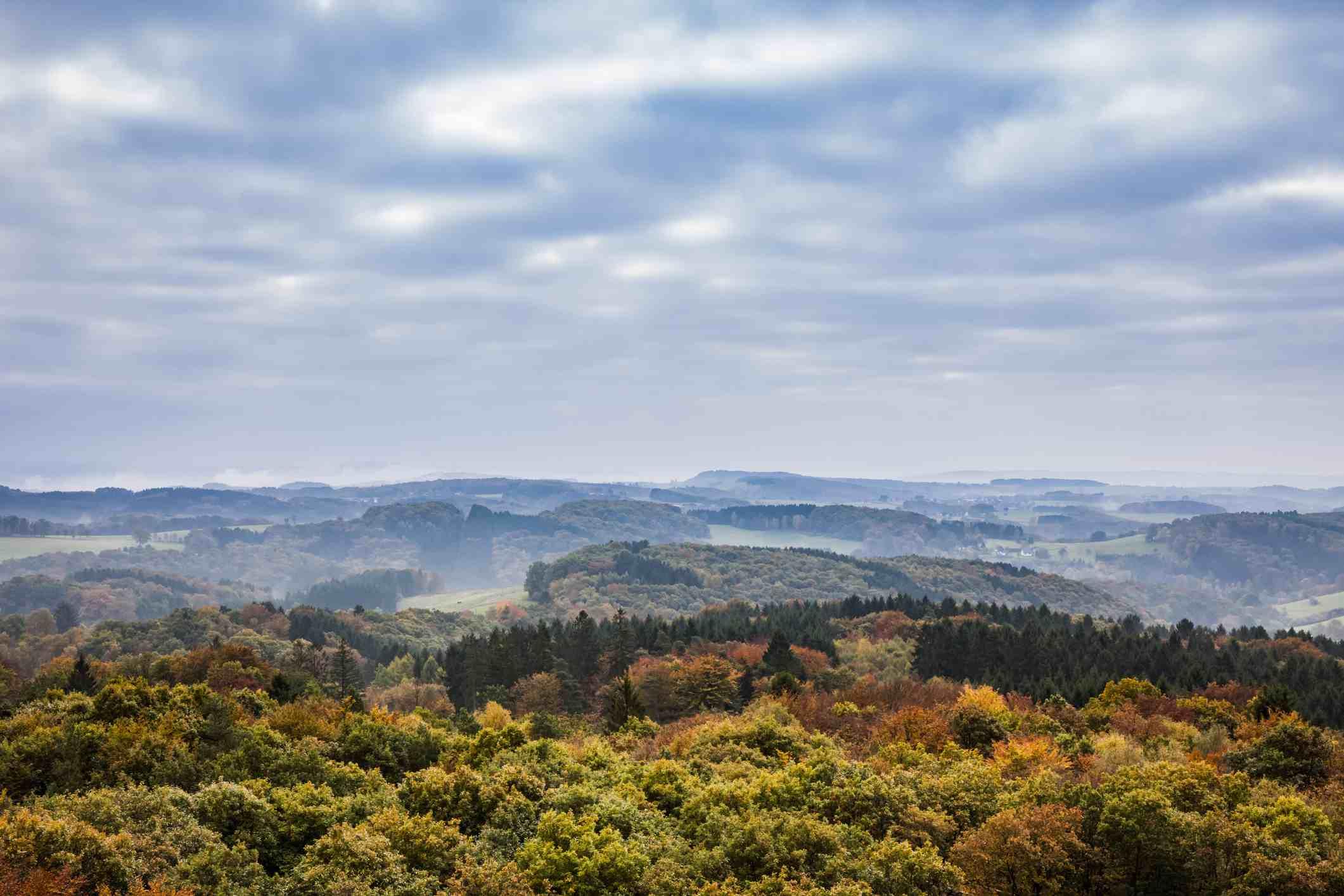 Bergisches Land in autumn - North Rhine-Westphalia, Germany