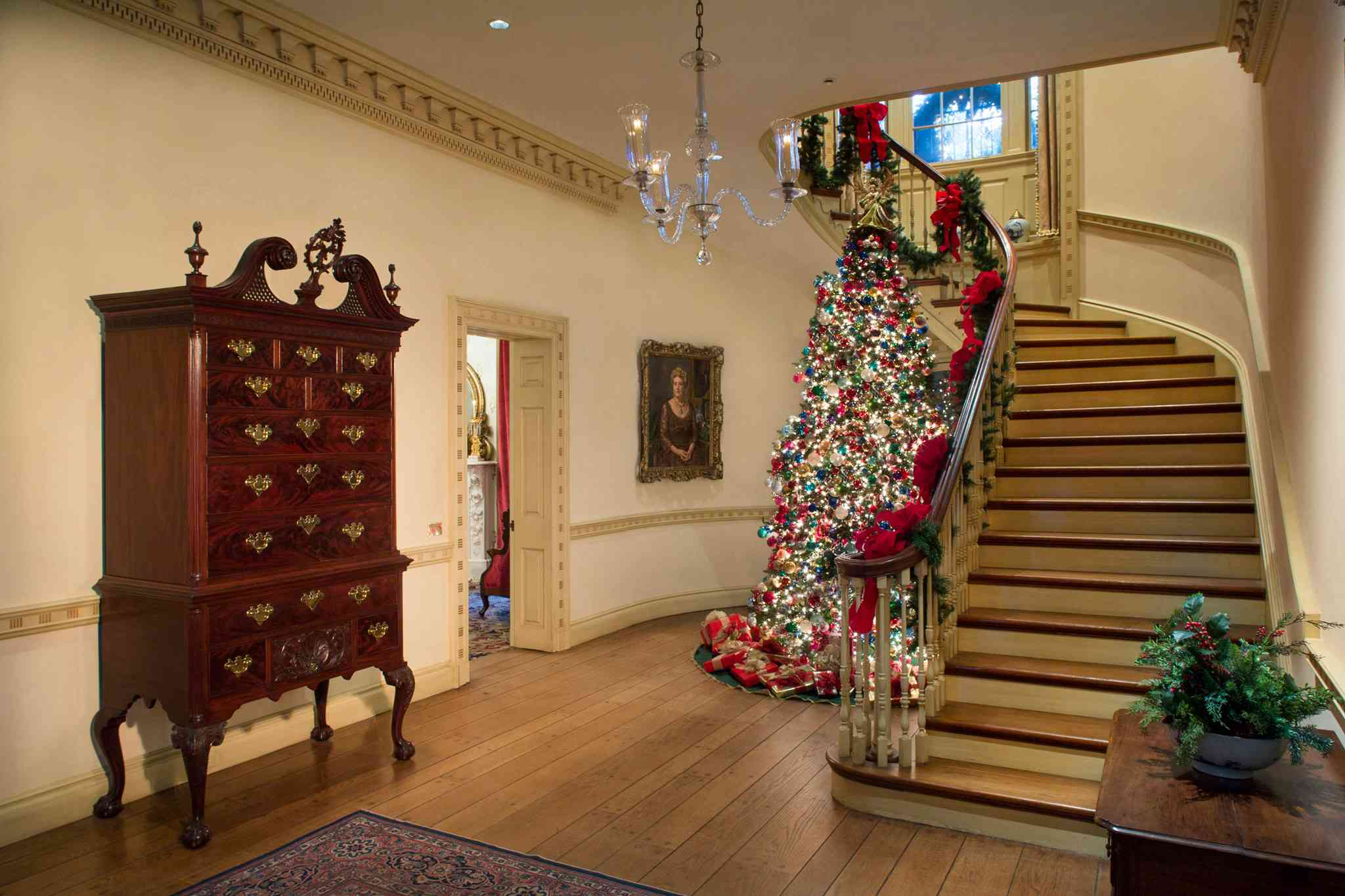 Christmas tree at the Bayou Bend Collection and Gardens