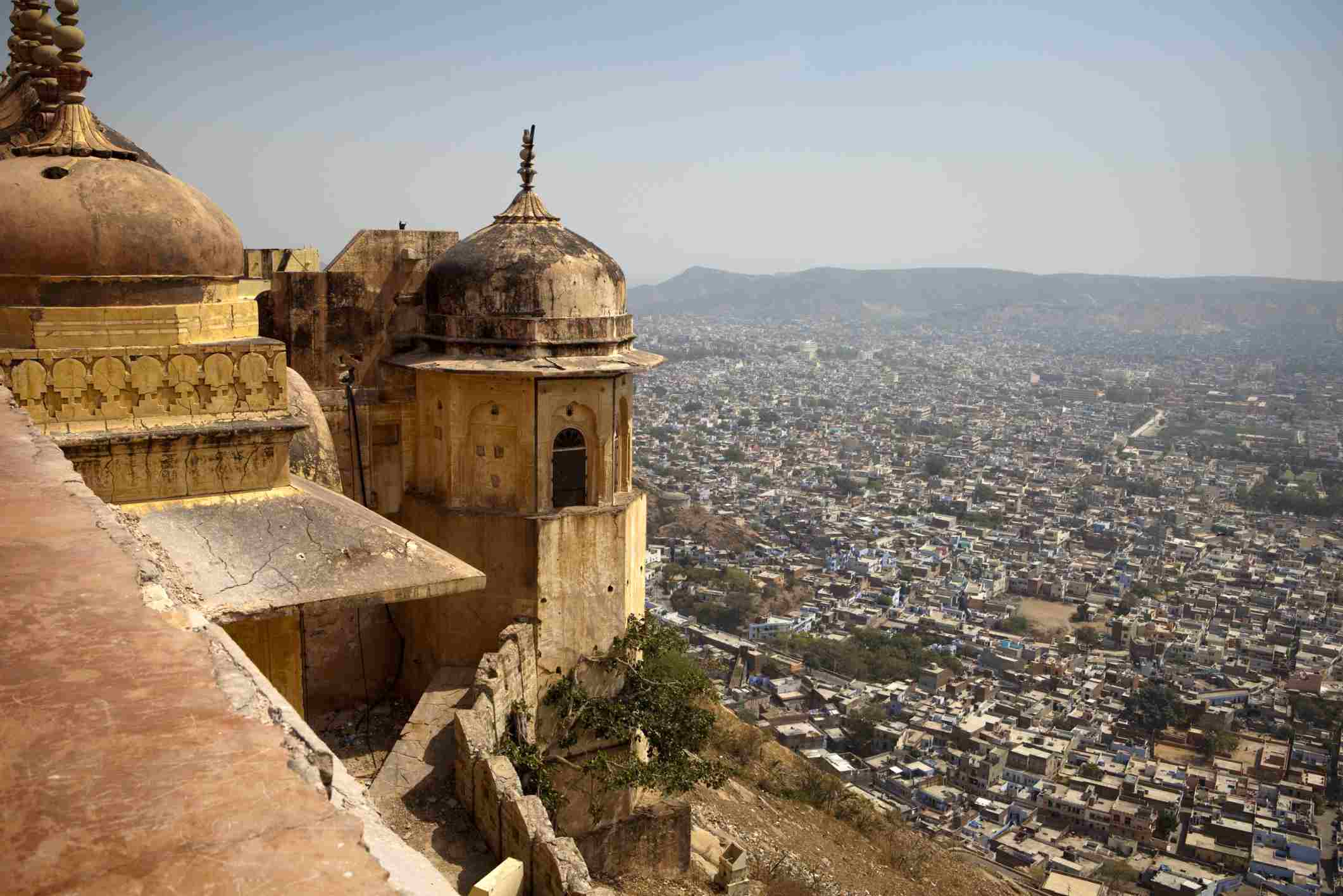 Views over Jaipur from Nahargarh Fort