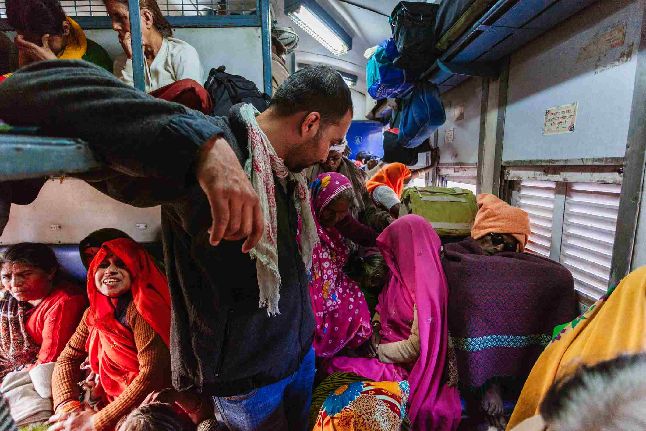 Indian Railways unreserved carriage.