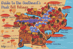 Guide to the Southeast's Peak Fall Foliage