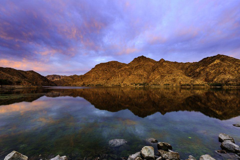 Epic Sunrise at Colorado River near Las Vagas