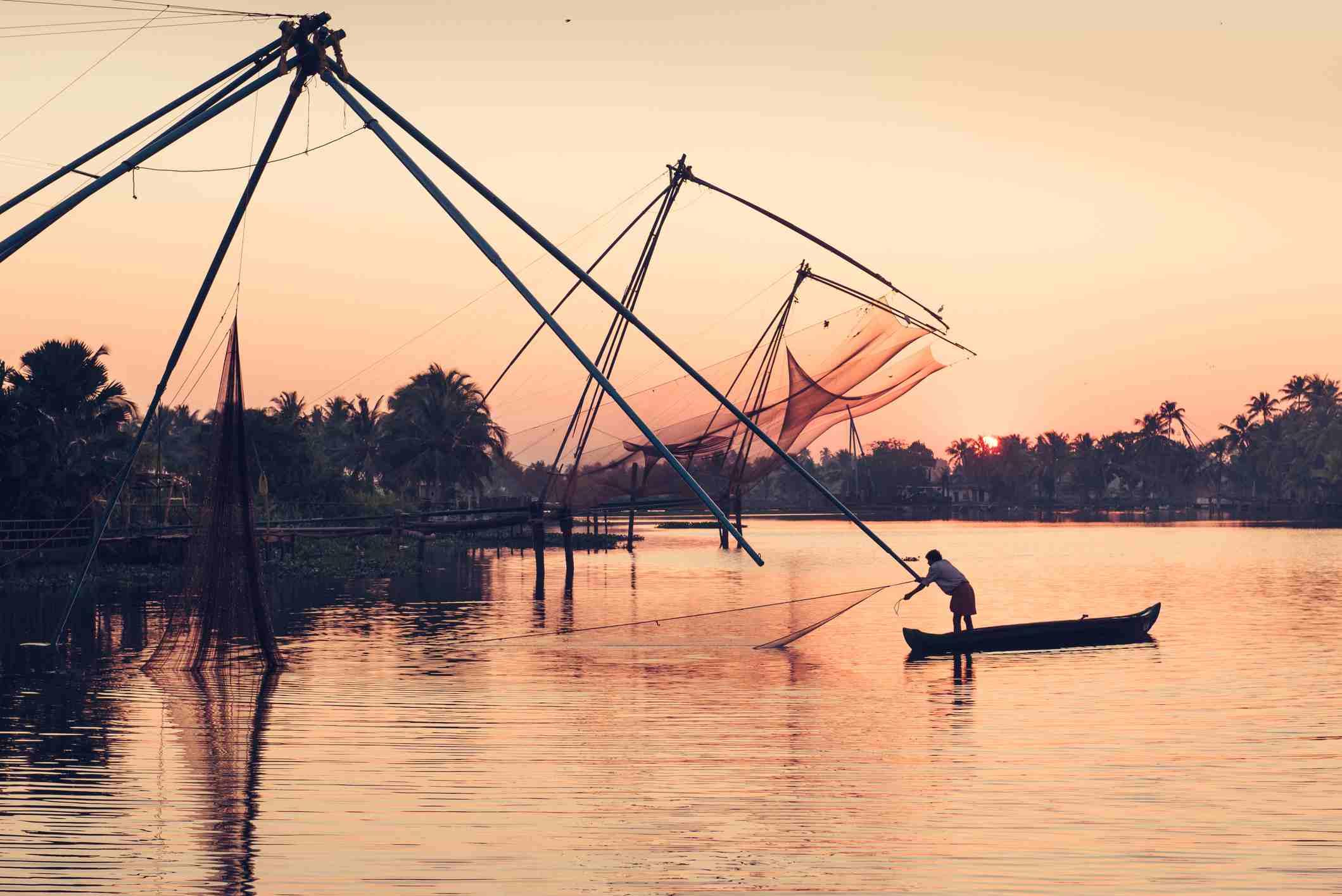 Kochi fishing nets.