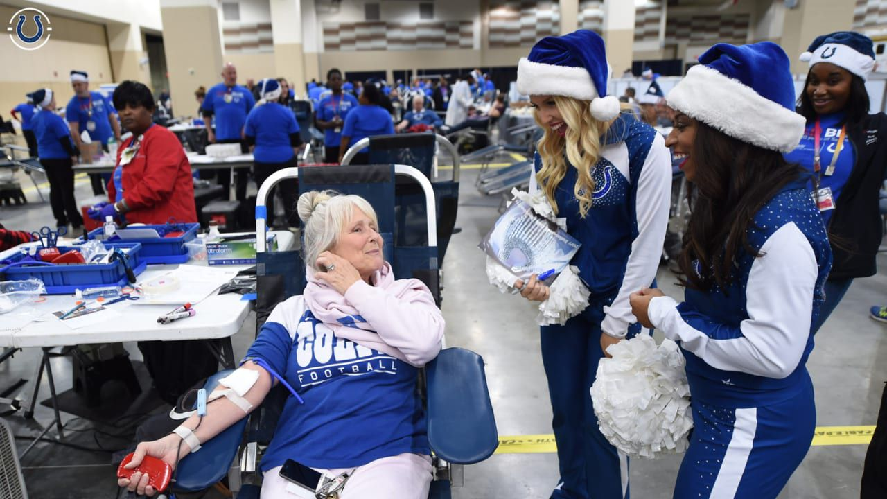 Indianapolis Colts annual blood drive and holiday fest
