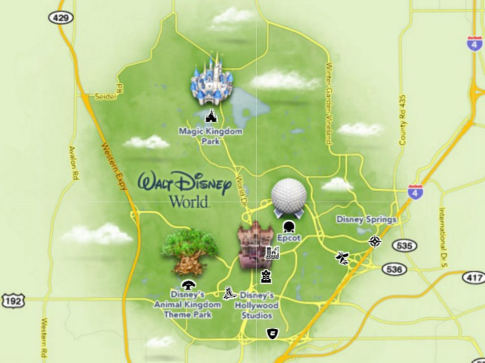 Maps of Walt Disney World\'s Parks and Resorts