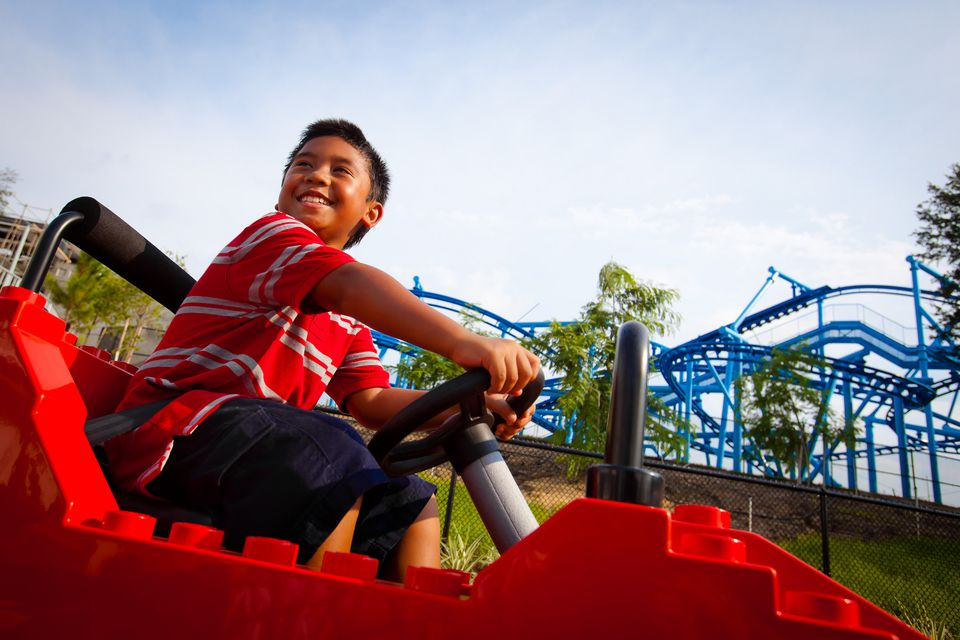 A boy enjoying LEGOLAND Florida
