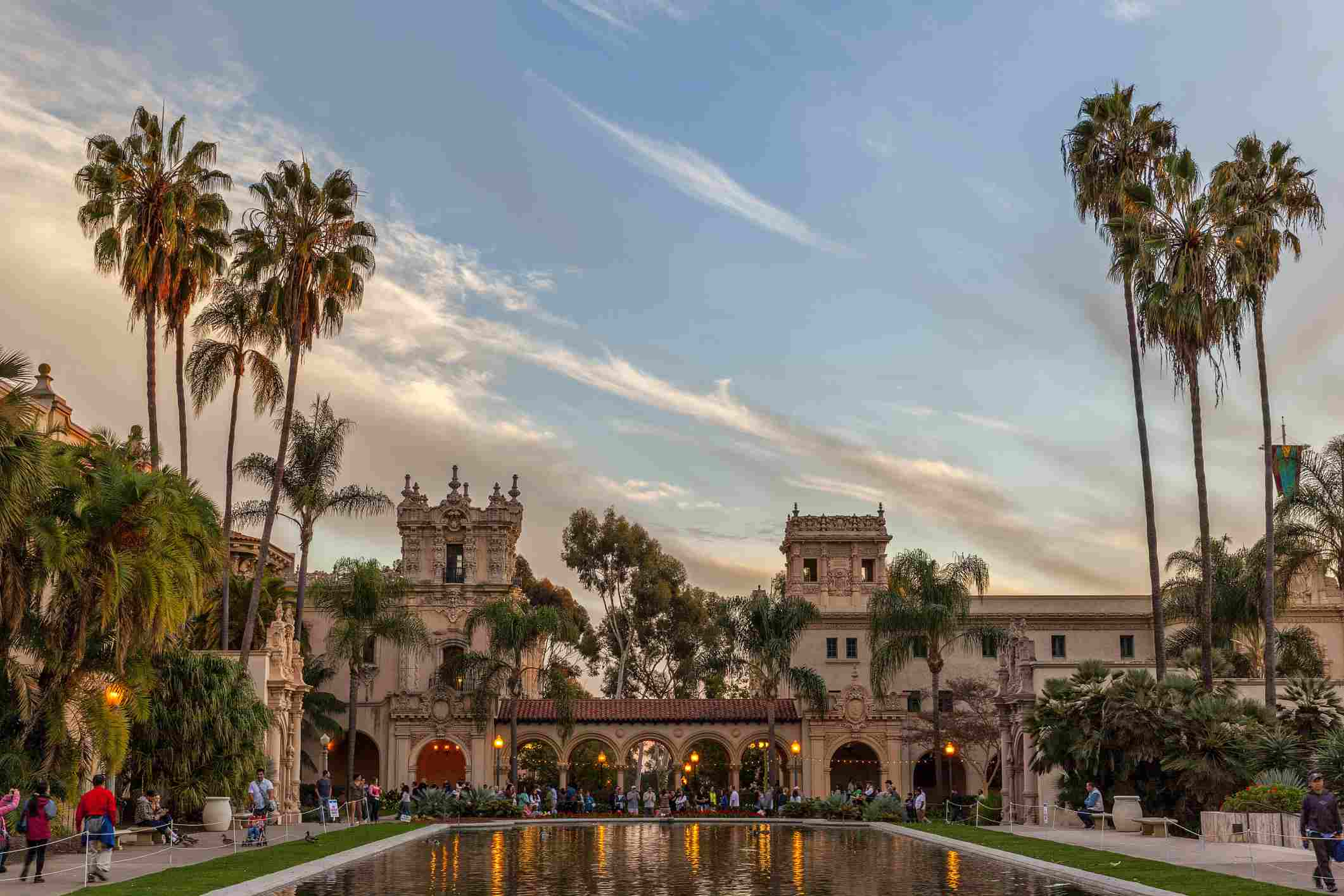 Overlooking lily pond in Balboa Park, San Diego, California, USA