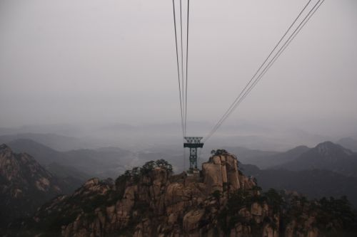 The Taiping Cable takes you from the summit of Huangshan down to the northern side of the mountain scenic area.