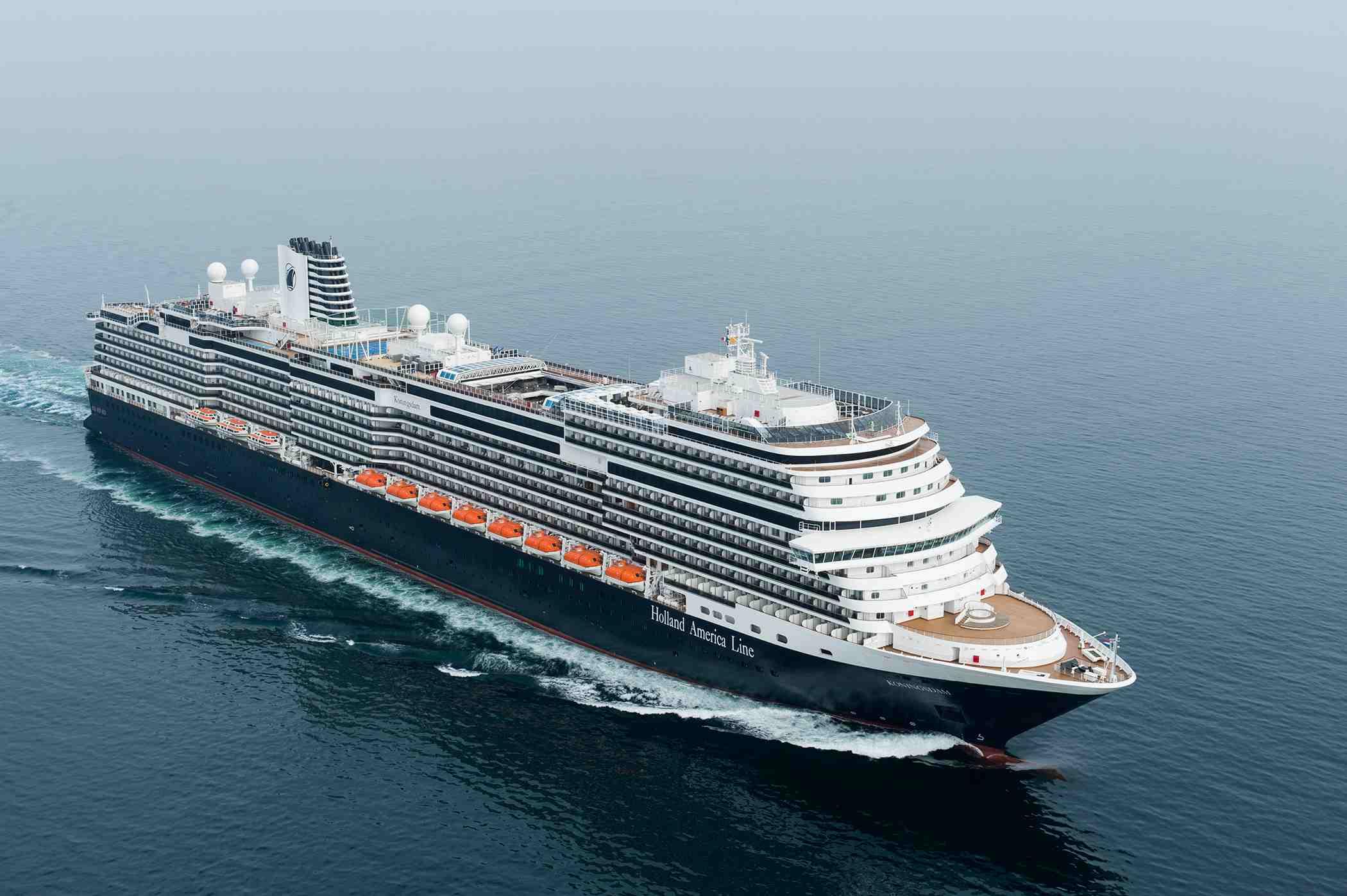 Holland America Koningsdam cruise ship at sea