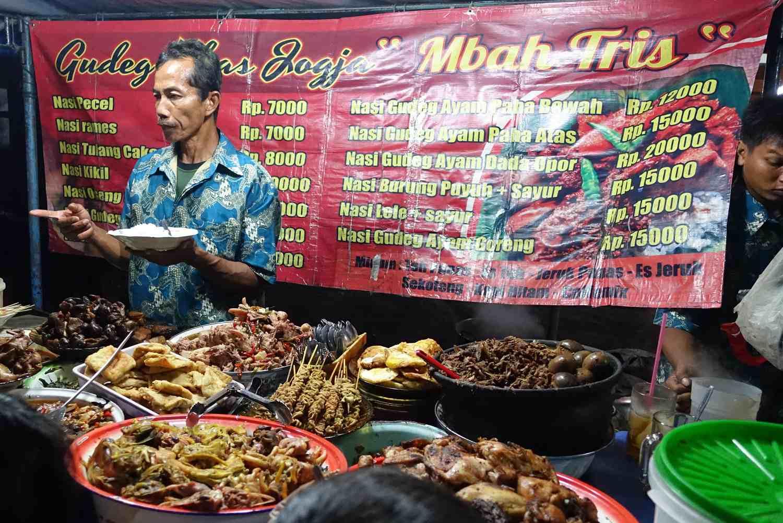 """""""Gudeg"""" stall along Malioboro, Indonesia"""