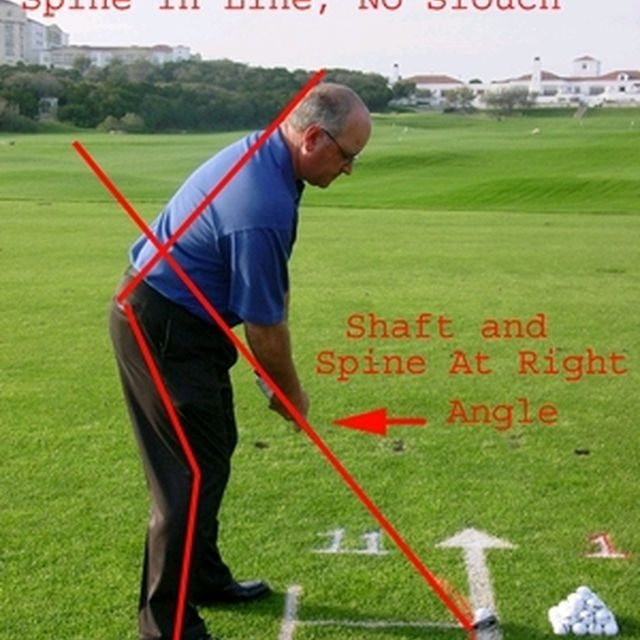 Proper posture in the golf stance