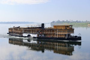 Paddle Steamer on the Nile River