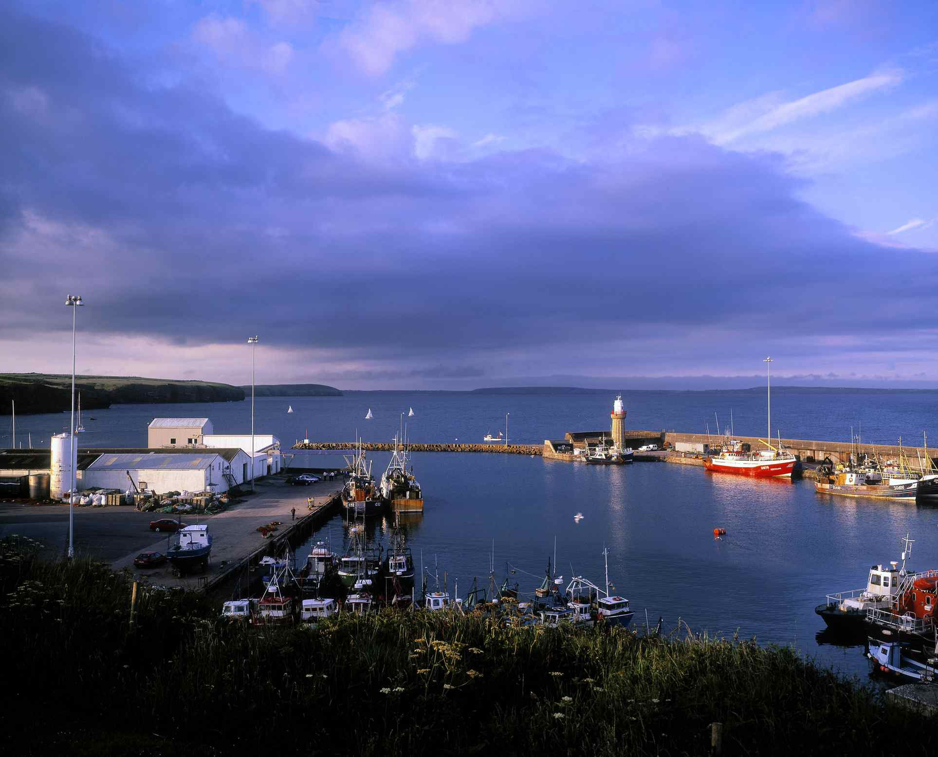 harbor of Dunmore East Waterford
