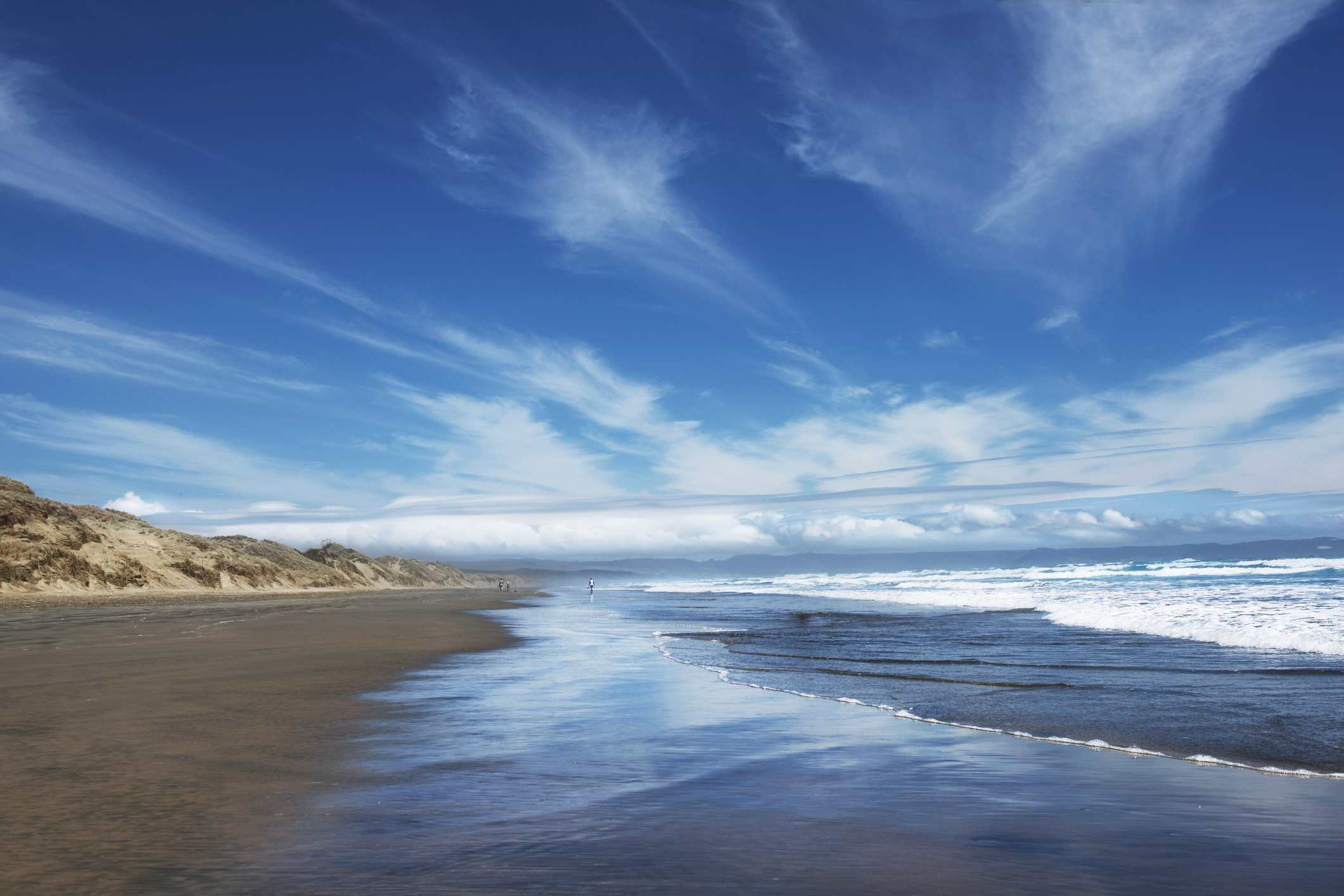 A beach in the Northlands of New Zealand.