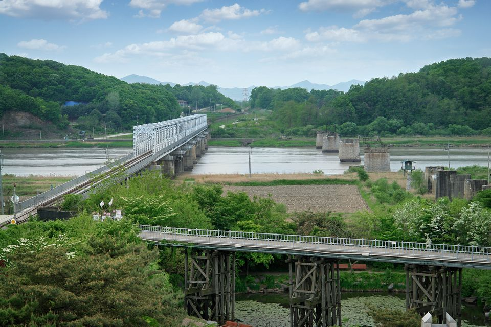 Freedom Bridge on The Border Of South and North Korea