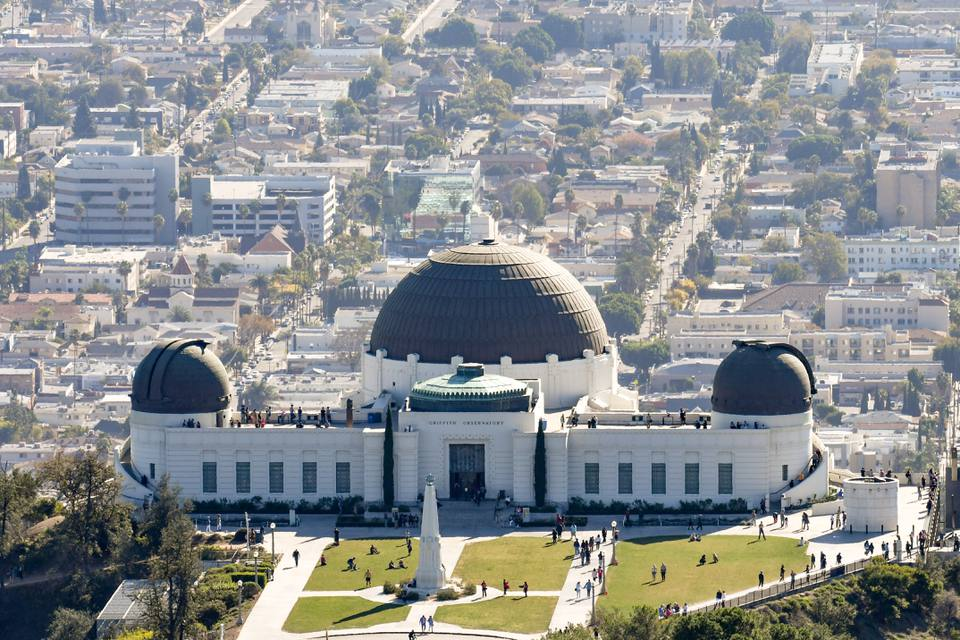 A view of the Griffith Observatory in Los Angeles, California.
