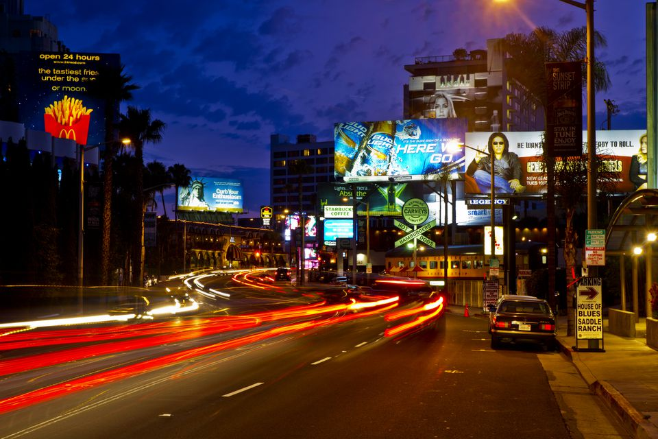 The Famous Sunset Strip in Los Angeles