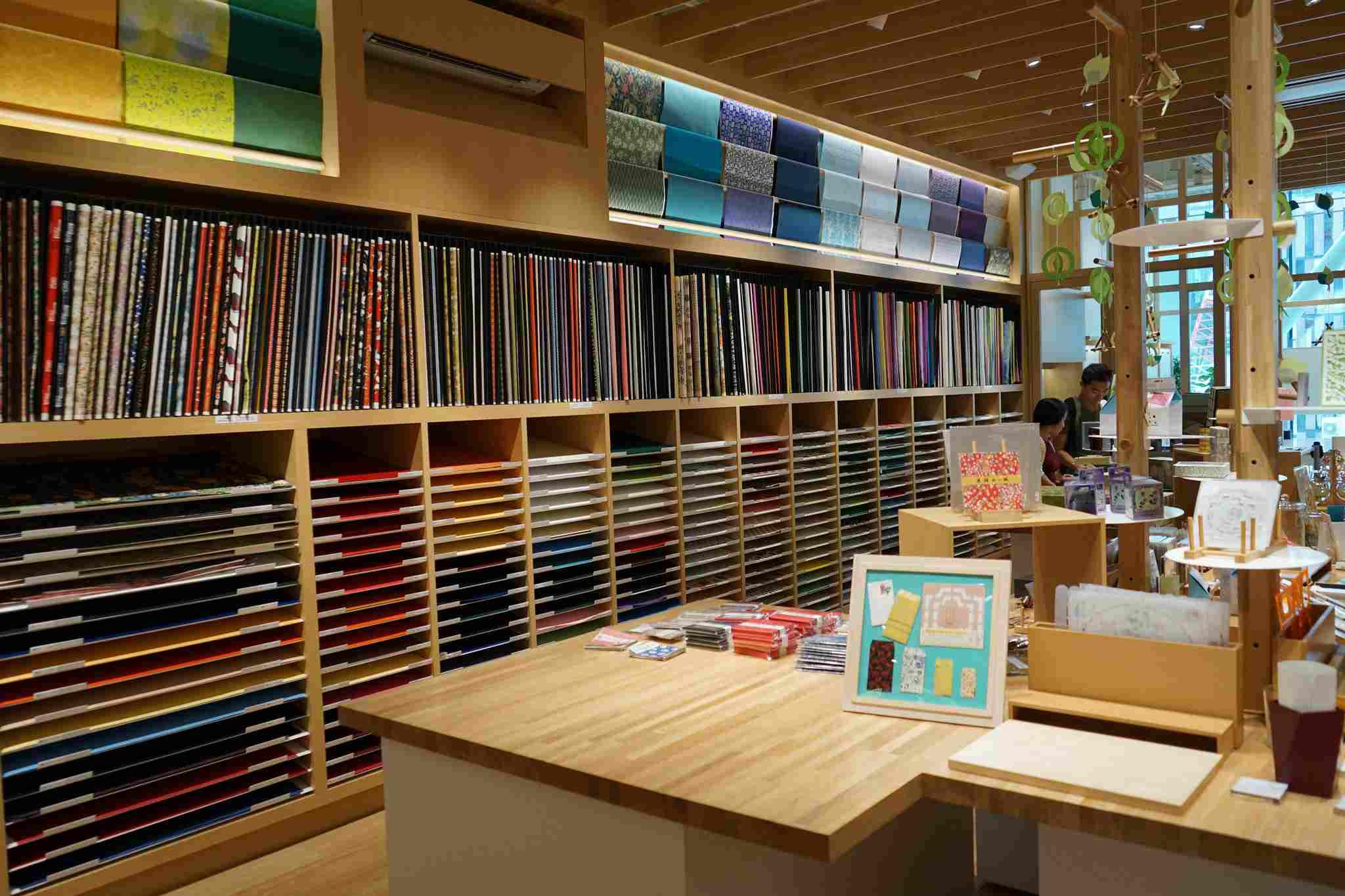 Interior of Itoya Stationery store ginza, tokyo
