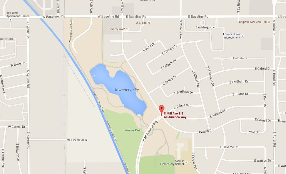 Pacific Auto Center >> Where is Kiwanis Park in Tempe?