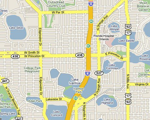 Orlando I-4 Exits - Interstate 4 Florida