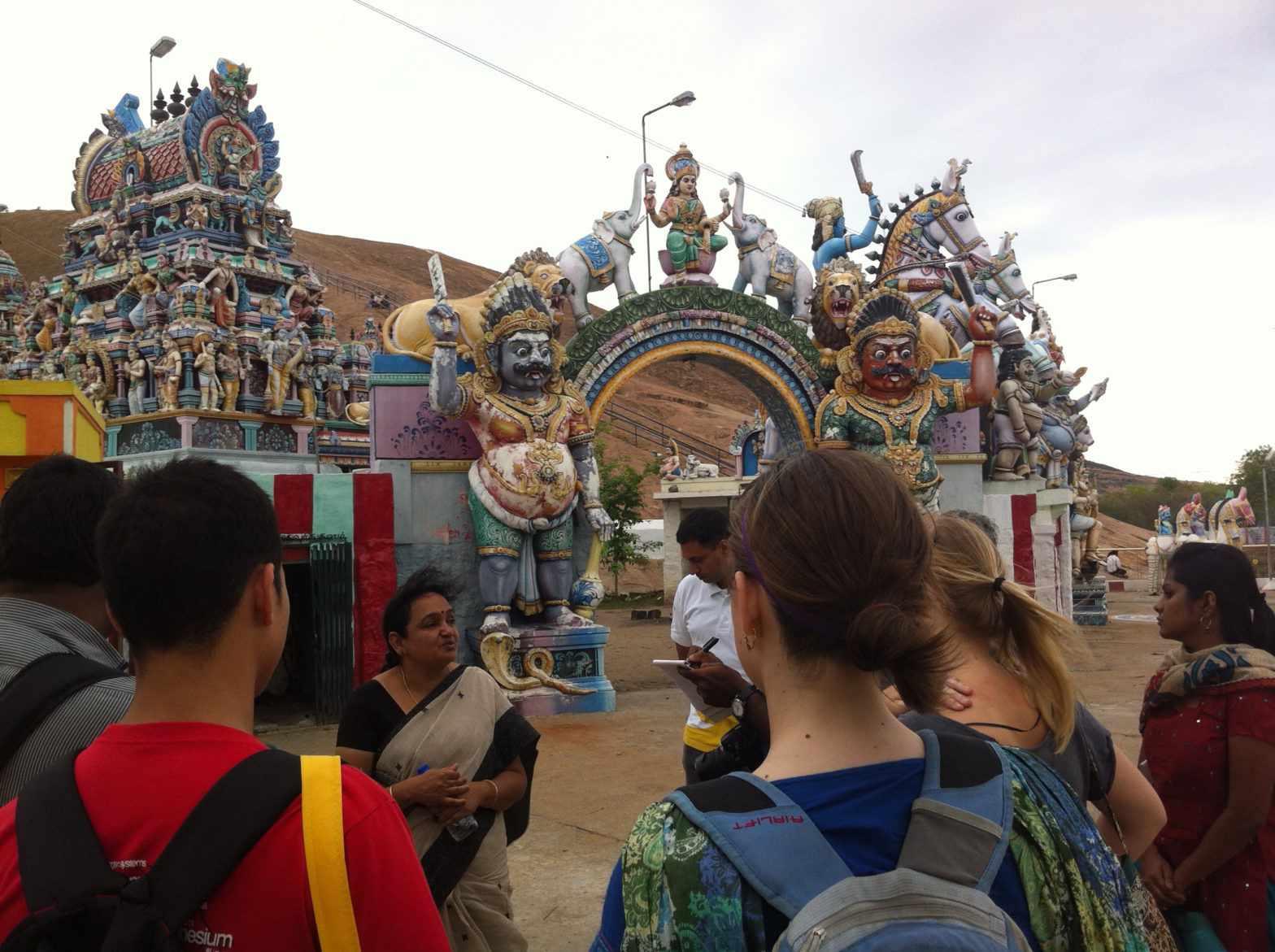 Tour group in Madurai