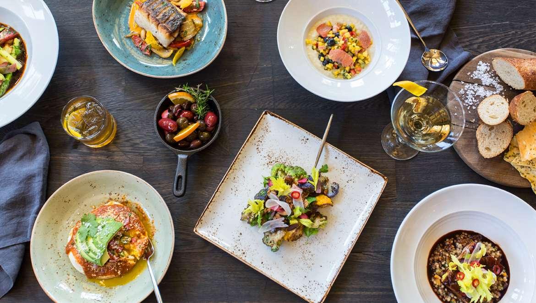 Food selection at Prado at Omni Scottsdale Resort & Spa at Montelucia
