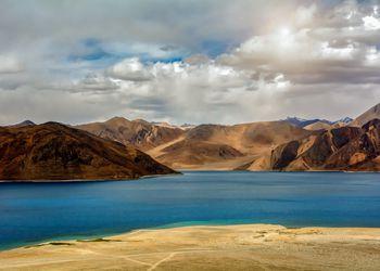 Pangong Lake in Ladakh, North India.